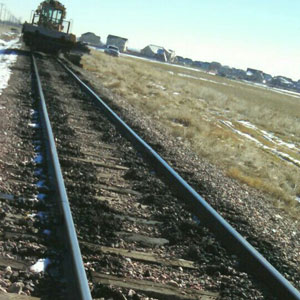 Railroad Track Surfacing - Before